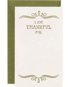 I Am Thankful For Notes/Guest place Cards