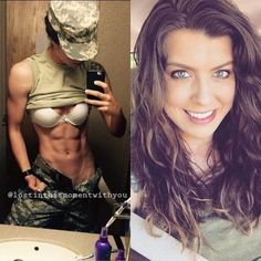 Working girls have two sides of their life one in uniform and other out of uniform. Check beautiful girls in and out of uniform that will make your day. Sexy Women, Badass Women, Mädchen In Uniform, Girls In Uniform, Ripped Girls, Female Soldier, Army Soldier, Military Women, Women Hunting