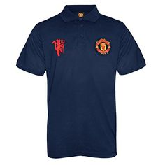 From 17.99 Manchester United Fc Official Football Gift Mens Crest Polo Shirt Navy Small
