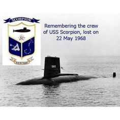 """USS Scorpion (SSN-589) was lost with all hands on May 22, 1968. The official position is that she was victim to an inboard torpedo accident - a """"hot run"""" - but there is still much speculation about the circumstances surrounding the events leading up to, and following, that fateful day. Regardless of whether her sinking was sinister or accidental, remember the 99 brave sailors who were lost while serving in the world's finest nuclear submarine force and the families they left behind that Memorial Submarine Museum, Nuclear Submarine, Military Quotes, Military Love, Navy Reserve, Model Warships, Us Navy Submarines, Navy Chief, Us Navy Ships"""