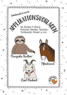 Applikationsvorlagen für Ziege, Pferd und Faultier - Free-Book