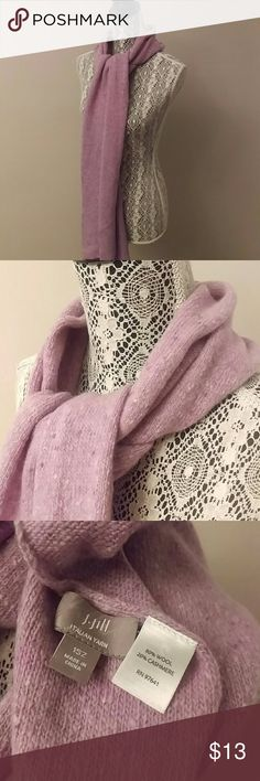 J. Jill liliac wool & Cashmere scarf In excellent condition. 79 inches long J. Jill Accessories Scarves & Wraps