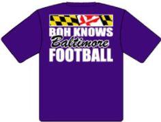 Boh Knows Baltimore Football. Go Ravens!