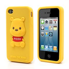 Case de silicona 3D Winnie Pooh para iPhone 4 4s – ulollicases