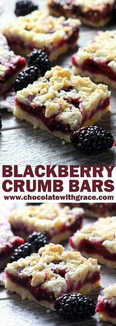 Blackberry Crumb Bars These cheery, blackberry crumb bars are a summertime favorite and make a perfect afternoon snack or simple dessert. - Blackberry Crumb Bars - Chocolate with Grace Easy Desserts, Delicious Desserts, Yummy Food, Summer Cookout Desserts, Summer Recipes, Fruit Deserts Recipes, Dairy Free Deserts, Light Summer Desserts, Picnic Desserts
