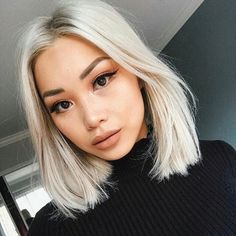Lace wigs and extensions are not just for length but for versatility Blonde Asian Hair, White Blonde Hair, Bleach Blonde Hair, Asian Short Hair, Blonde Hair Looks, Platinum Blonde Hair, Short Blonde, Asians With Blonde Hair, Medium Blonde