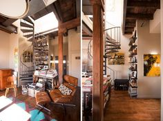 Bachelors Loft with Spiral Staircase