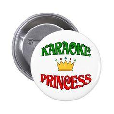 Karaoke Princess Button