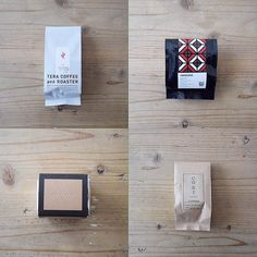 "36 Likes, 1 Comments - @go_room on Instagram: ""コーヒーの豆袋⑦  左上:TERA COFFEE(神奈川県横浜市) 右上:ONIBUS COFFEE(東京都目黒区) 左下:虎ノ門コーヒー(東京都港区) 右下:COBI COFFEE(東京都港区)…"""