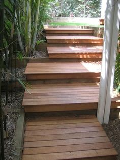 New Home Exterior www. Front Stairs, Entry Stairs, Deck Steps, Outdoor Steps, Garden Stairs, Backyard Garden Design, Front Yard Landscaping, House Front, Outdoor Gardens