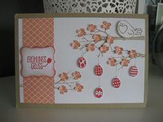 stampin up easter Card with stamp set : sheltering Tree , peeps sake and hey valentine Ostern Oster Karte mit den stempelsets : Baum der Freundschaft, ein echter Schatz und ei ei ei