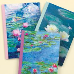 Monet Waterlilies Writer's Notebooks