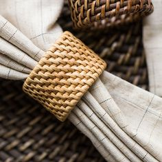 Fancy - Woven Rattan Napkin Ring