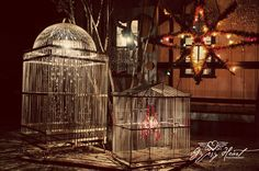 DIY lanterns out of old birdcages .. gypsy heart photography: junk-o-Rama prom episode {junk gypsy co}