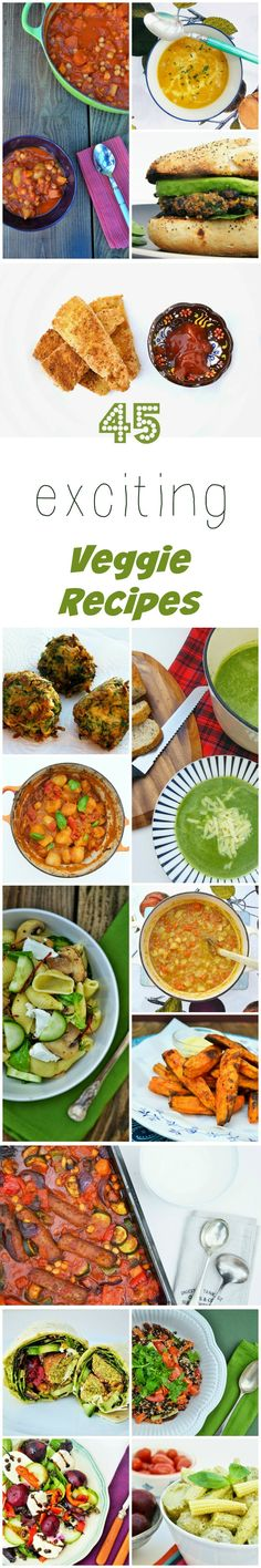 45 exciting vegetarian & vegan recipes for National Vegetarian Week. Veggie, vegan and dairy free recipes.