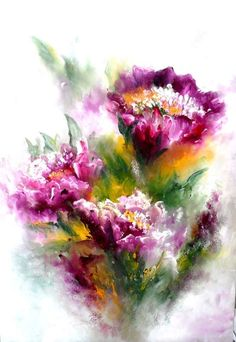 Flowers (watercolor):