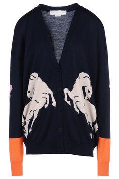 Stella McCartney horse print cardigan.
