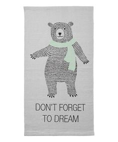 Look what I found on #zulily! White 'Don't Forget to Dream' Rug #zulilyfinds