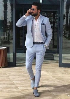 18 Business Casual Outfit Ideas for Working Men - remajacantik Informations About 18 Business Casual Outfit Ideas for Working Blazer Outfits Men, Mens Fashion Blazer, Stylish Mens Outfits, Business Casual Outfits, Suit Fashion, Mens Casual Suits, Mens Blazer Styles, Stylish Clothes For Men, Men Casual Styles