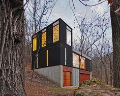 Galería de Cabaña Apilada / Johnsen Schmaling Architects - 1