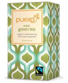 Pukka Organic Teas, Mint Green, 20 Count (Pack of Organic Green Tea, Organic Herbs, Pukka Tea, Pukka Herbs, Sencha Green Tea, Mint Tea, Tea Packaging, My Cup Of Tea, Packaging Design Inspiration