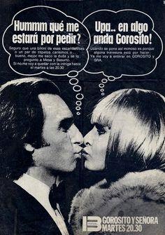 Publicidad programación CANAL 13, Buenos Aires, década del 70.