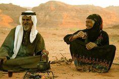 Lovely Bedouin couple in Wadi Rum, Jordan.