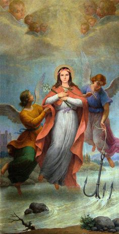 St. Philomena, Virgin and Martyr. - Saints John Vianney and Damien had a great devotion to her.