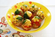 LATSIAKONYHÁJA: ASZPIKOS TOJÁS Cauliflower, Shrimp, Eggs, Meat, Chicken, Vegetables, Cooking, Breakfast, Recipes