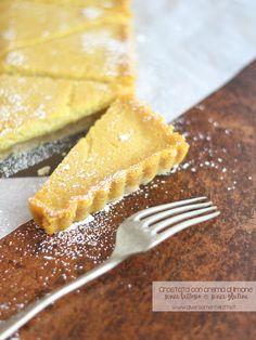 crostata con crema al limone #senzalattosio #senzaglutine #senzauova #senzalievito #diversamentelatte