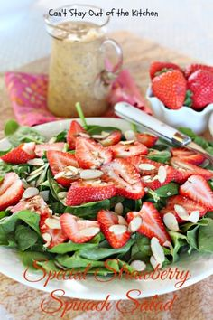 Special Strawberry Spinach with Poppyseed Dressing.