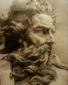 Bust of Neptune by Lambert-Sigisbert Adam, 1725 Poseidon Tattoo, Figure Drawing, Painting & Drawing, Art Sketches, Art Drawings, Chateau Disney, Sculpture Art, Sculptures, Mythology Tattoos