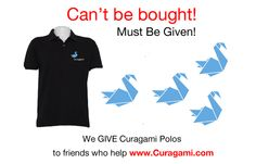 Our collector's Curagami Polo can't be bought, but we give them to friends who help and become a FOC (friend of Curagami).