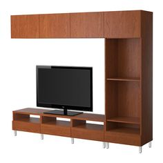 BESTÅ TV storage combination - Vara medium brown - IKEA