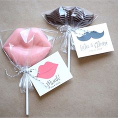 Lollipops lips and mustache