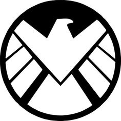 Modern SHIELD Logo - Partly considering a tattoo of a line of tiny symbols of things I love. Such as this, Millenium Falcon, starship Enterprise, TARDIS, LOTRs symbols, etc.