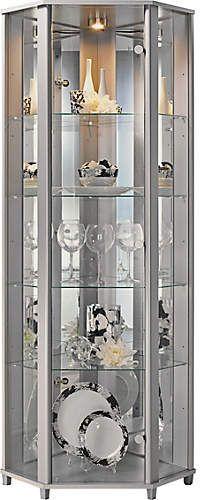 Gl Door Corner Display Cabinet
