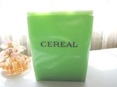 Jadeite Green Cereal Canister Jeannette Fire King by AllieEtCie