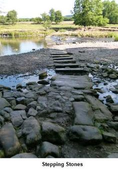 Burley-in-Wharfedale stepping stones