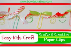 DIY Scrapbooking Embellishments-  Crafty Paper Clips