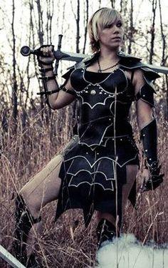 Ladies Bordered Gothic Leather Armor Set by SharpMountainLeather, $799.99