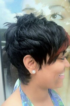 Textured short hair