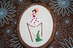 Haunted Mansion 'stretching room' portrait - Parasol Lady by giddygirlie, via Flickr