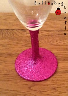 Fuchsia Glitter glasses £6 each. 2 for £10, 4 for £18 + p&p www.facebook.com/hellobuttonbug