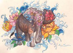 Elephant Tattoo-Anneris Kondratas