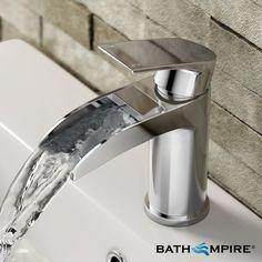 Waterfall Basin Mixer Tap | Basin Tap - https://www.globalbathrooms.co.uk/taps.html
