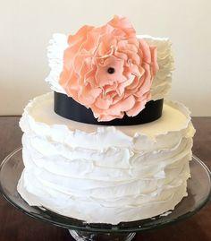 Simple and Chic  Cake by SuiteCakesLasVegas