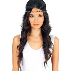 Lynna Braided Headband ❤ liked on Polyvore