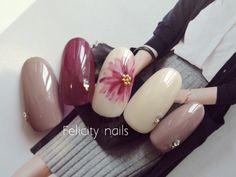 These have such a nice color palette! So warm! Colorful Nail Designs, Beautiful Nail Designs, Cute Nails, Pretty Nails, Nails 2017, Japanese Nails, Nagel Gel, Toe Nail Art, Fabulous Nails