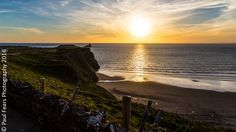 Facing west as it does, Rhossili Bay is renowned for its spectacular sunsets.